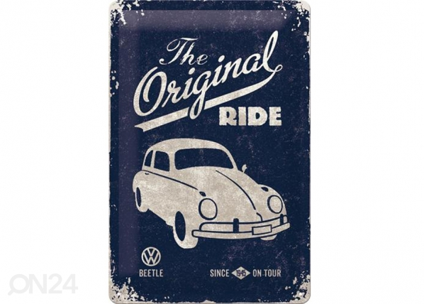 Retro metallposter VW Beetle The Original Ride 20x30cm SG-73485