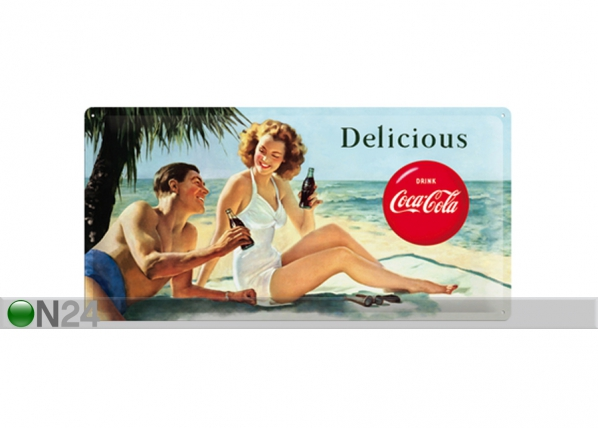 Retro metallposter Coca-Cola Delicious 25x50cm SG-73503