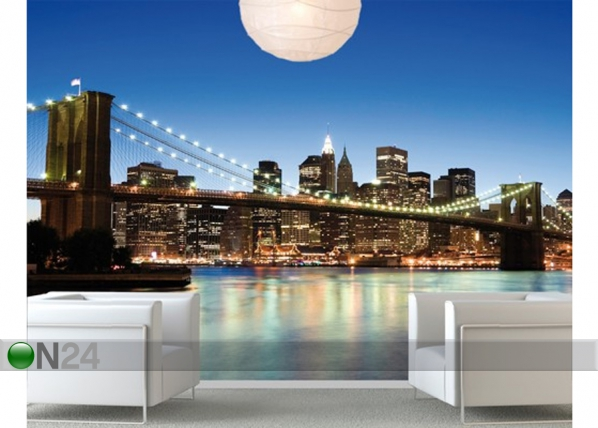 Fototapeet Manhattan Brooklyn Bridge 280x200 cm ED-75084