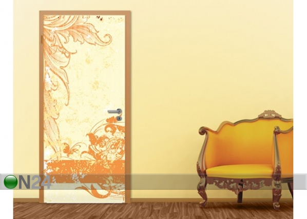 Fototapeet Grunge Orange Scroll 100x210cm ED-76711