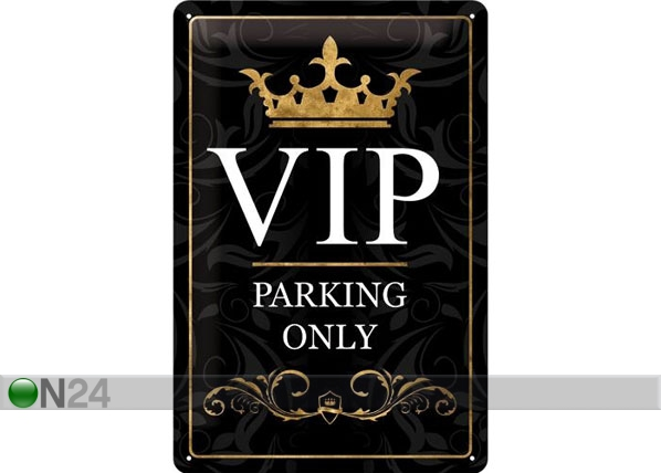 Retro metallposter VIP Parking only 20x30cm SG-78388