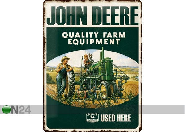 Retro metallposter John Deere Quality Farm Equipment 30x40cm SG-78432
