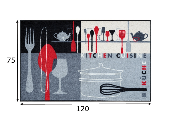 Vaip Kitchen Crockery 75x120 cm A5-87176