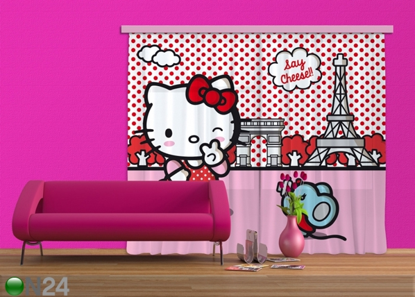 Poolpimendav fotokardin Hello Kitty with mouse 180x160 cm ED-87379