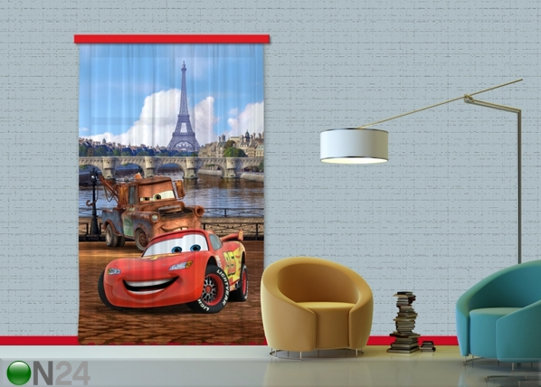 Poolpimendav fotokardin Disney cars Paris 140x245 cm ED-87414