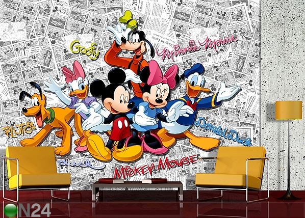 Fototapeet Disney Mickey comic books 360x254 cm ED-88002