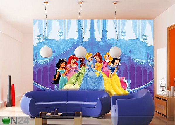 Fototapeet Disney princesses and the castle 360x254 cm ED-88011