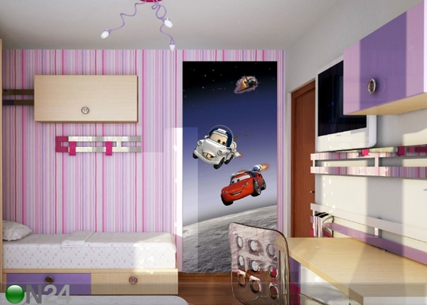 Fliis-fototapeet Disney Cars in Space 90x202 cm ED-90938