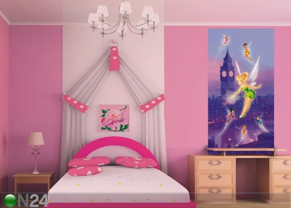 Fliis-fototapeet Disney fairies in London 90x202 cm ED-91016