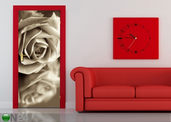 Fliis-fototapeet Black and white rose 90x202 cm ED-91148