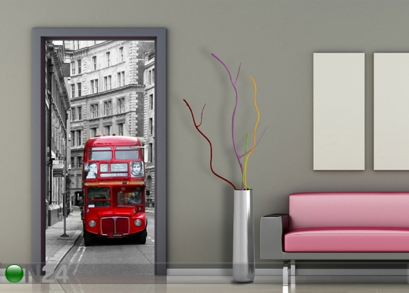 Fliis-fototapeet London bus 90x202 cm ED-91435