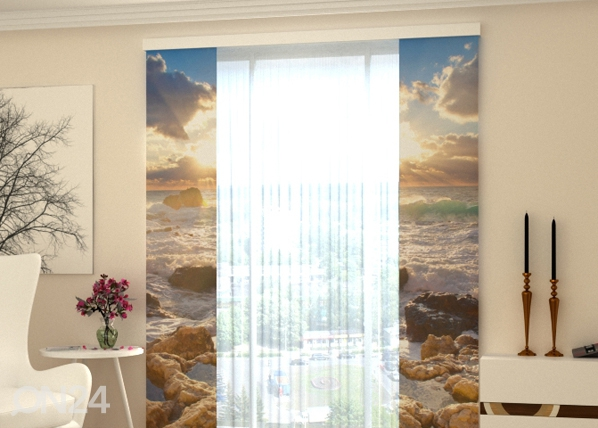 Pimendav paneelkardin Sea and Stones 80x240 cm ED-97816