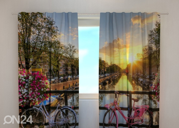 Poolpimendav kardin Beautiful sunrise over Amsterdam 220x240 cm ED-97924