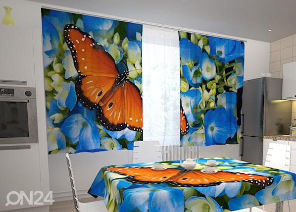Poolpimendav kardin Butterfly on the blue 200x120 cm ED-98322
