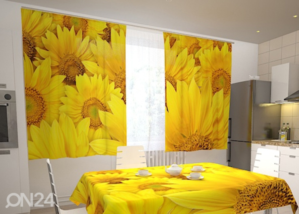 Läbipaistev kardin Sunflowers in the kitchen 200x120 cm ED-98327