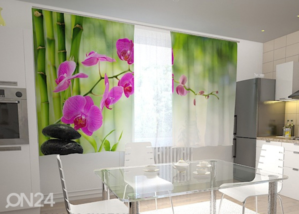 Poolpimendav kardin Crimson orchids in the kitchen 200x120 cm ED-98437