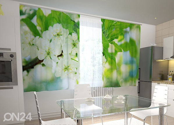 Poolpimendav kardin Spring flowers for the kitchen 200x120 cm ED-98452