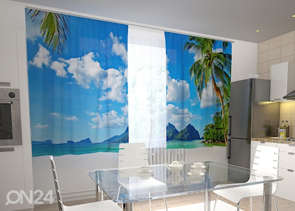 Poolpimendav kardin Beach behind the window 200x120 cm ED-98548