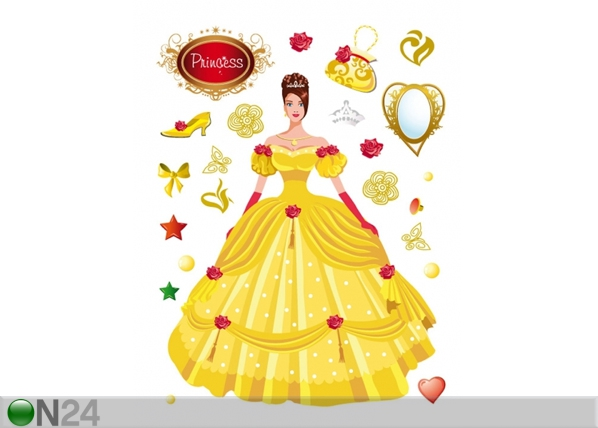 Seinakleebis Princess in yellow 65x85 cm ED-98906
