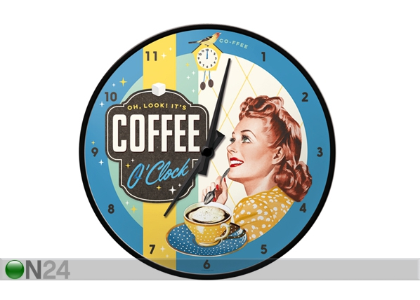 Retro seinakell Coffee O'Clock SG-99008