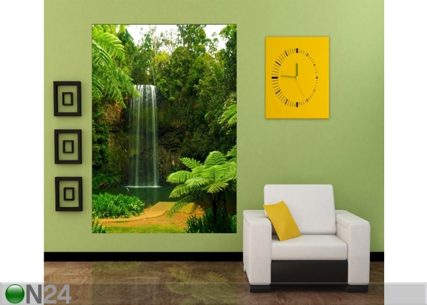 Fliis-fototapeet Waterfall at lake 180x202 cm ED-99102