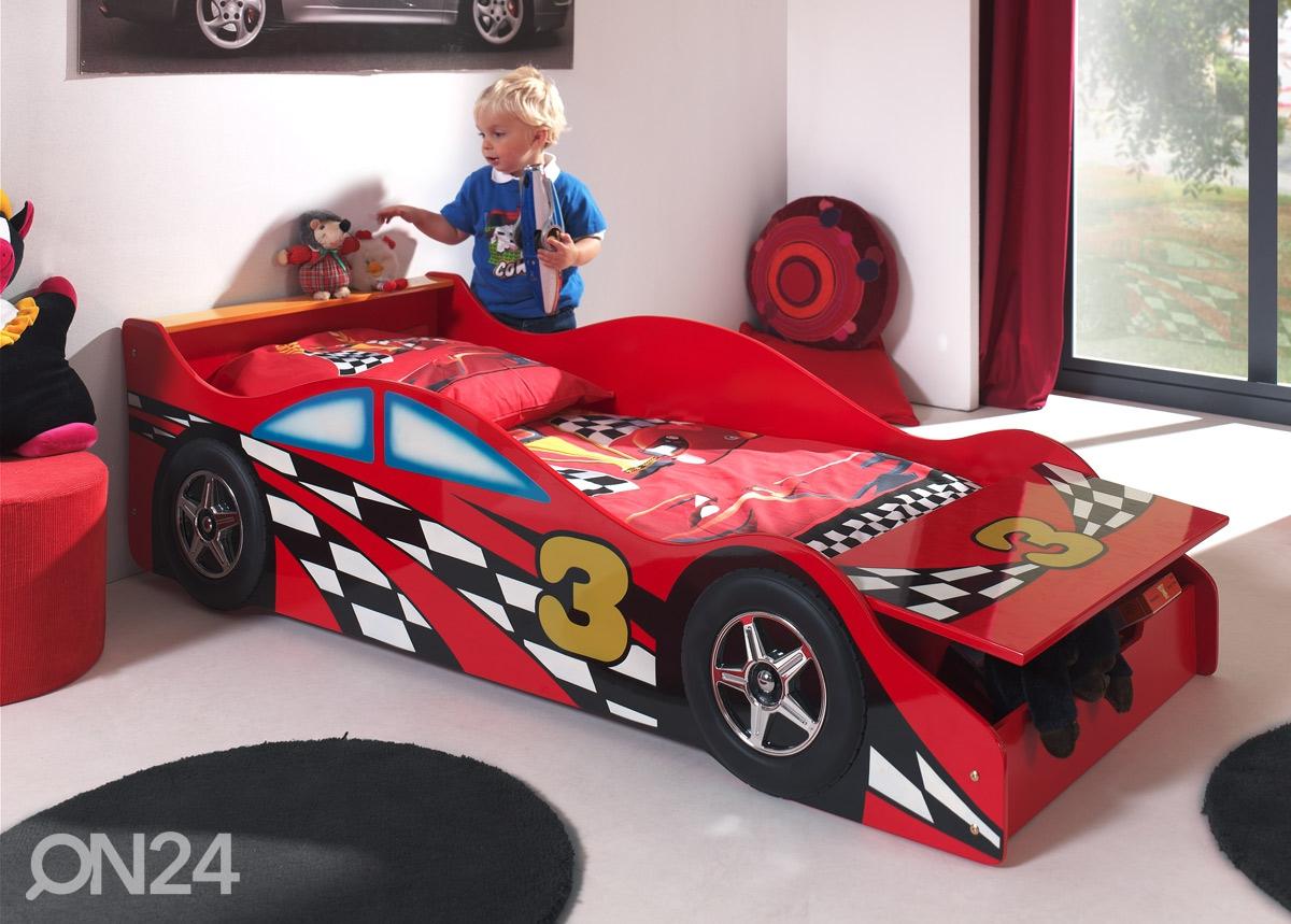 voodi race car 70x140 cm aq 52024 on24 sisustuskaubamaja. Black Bedroom Furniture Sets. Home Design Ideas